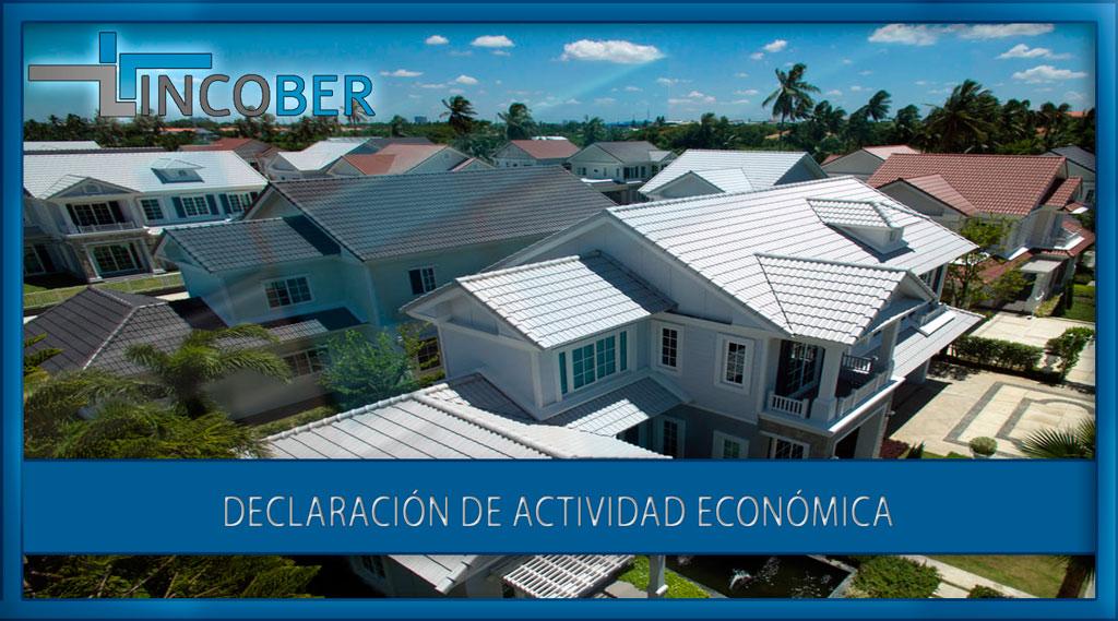 Declaración de actividad económica